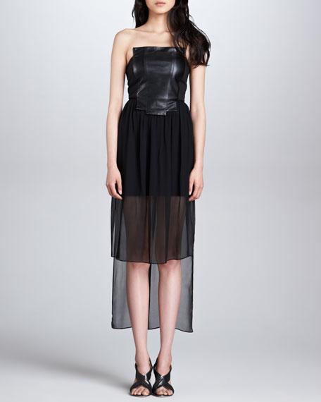 Lolo High-Low Bustier Dress