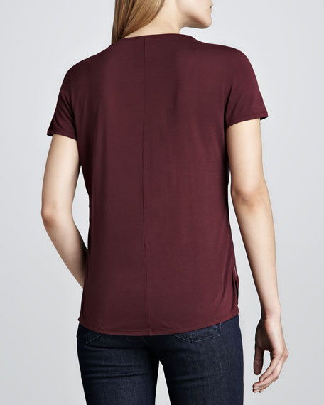 Faux-Leather Combo Tee