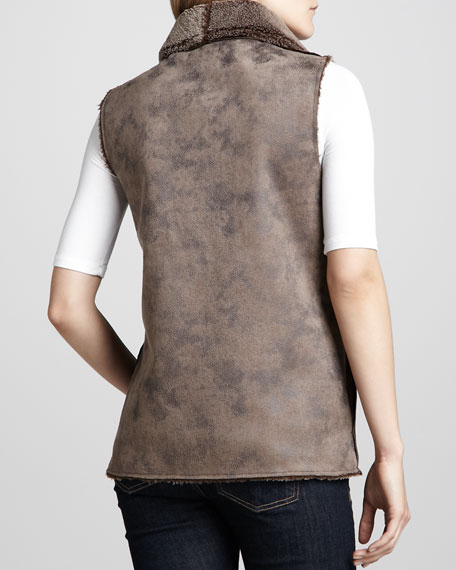 Faux-Leather Vest