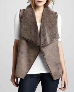 Velvet by Graham & Spencer Faux-Leather Vest