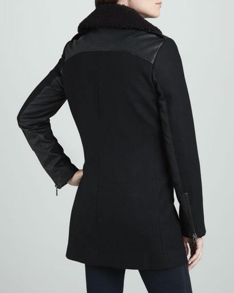 Moto-Style Double-Collar Coat