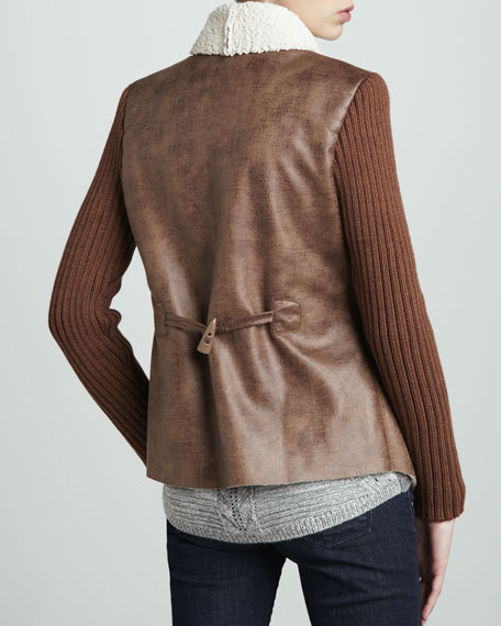 Faux-Shearling-Lined Jacket