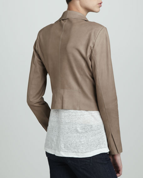 Lightweight Leather Cascade Jacket