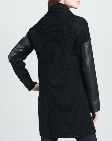 Buckled Long Knit Cardigan