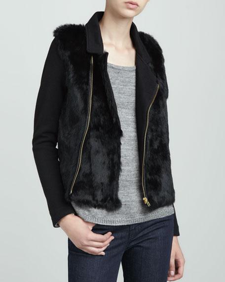 Fur-Front Moto Jacket