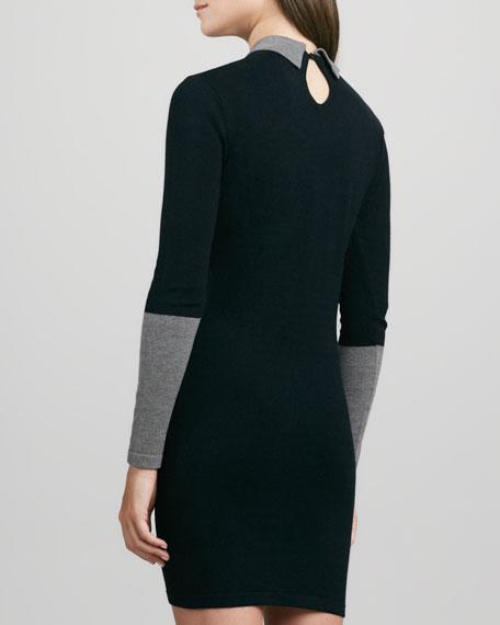 Two-Tone Colorblock Sheath Dress