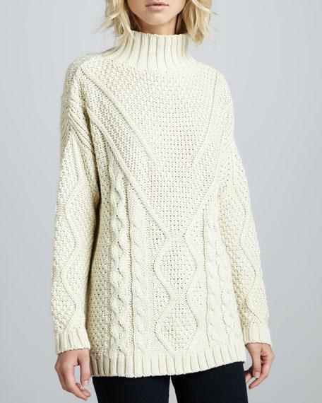 Tusk Mixed-Knit Sweater
