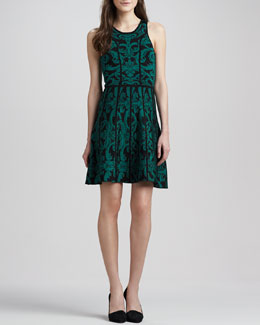 Parker Kiley Printed Fit-and-Flare Dress