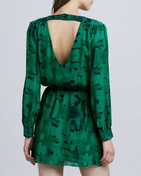 Lilia Open Back Dress, Green