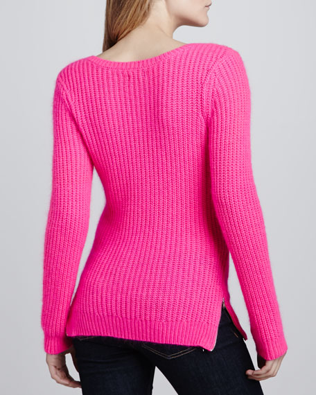 Nolita Long-Sleeve Ribbed Sweater