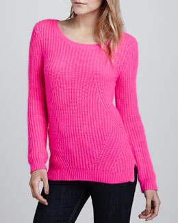 Splendid Nolita Long-Sleeve Ribbed Sweater