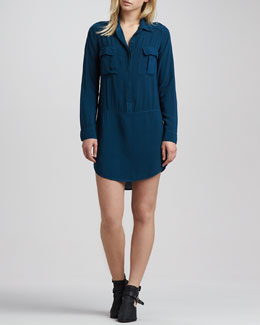 Splendid Drop-Waist Pocket Shirtdress