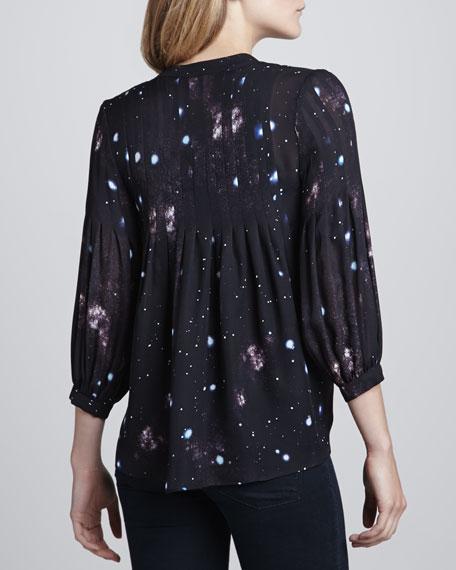 Big Bang Printed Button-Front Blouse