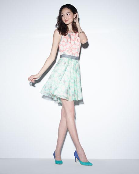 Amanda Printed Silk Dress