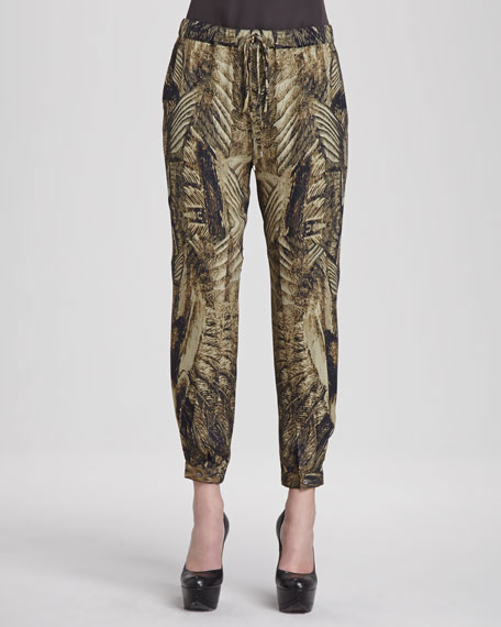 Free Bird Silk Cargo Pants