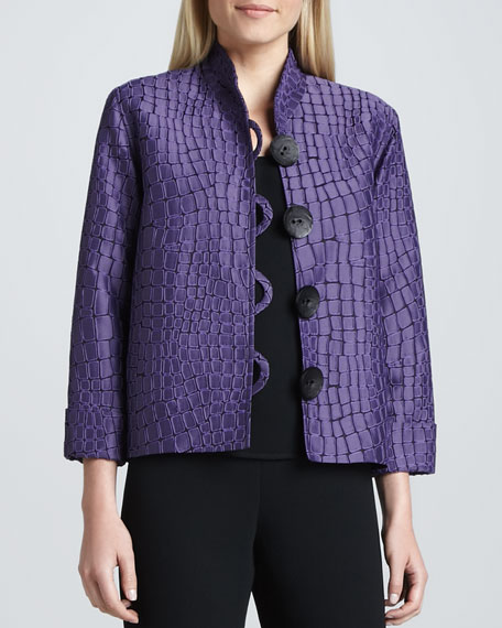 Jacquard Jacket with Mosaic Motif
