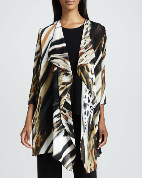 Animal-Print Georgette Jacket
