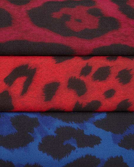 Leopard Silk Blouse, Petite