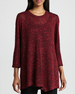 Caroline Rose Asymmetric Cozy Knit Tunic