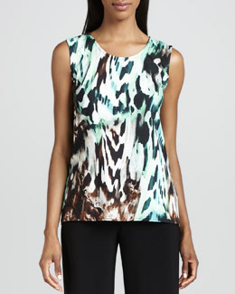 Caroline Rose Urban Animal-Print Tank, Women's