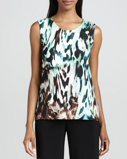 Caroline Rose Urban Animal-Print Tank
