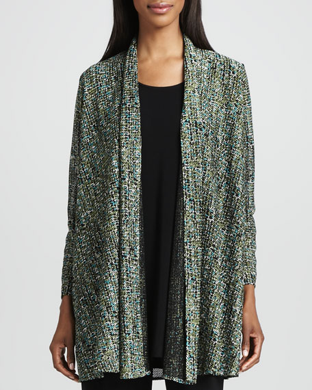 Tweed Knit Cardigan, Women's
