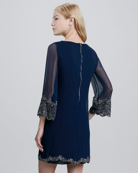 Frieda Embellished-Trim Dress