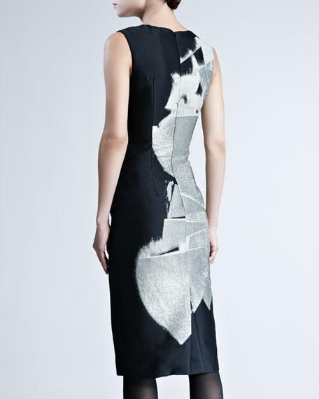 Printed Sleeveless Sheath Dress