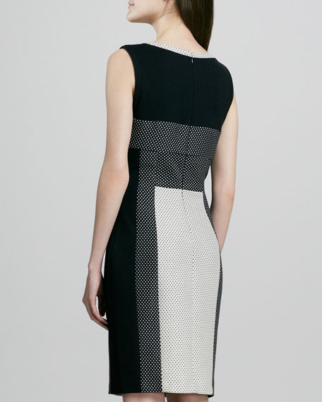 Colorblock Dot Dress