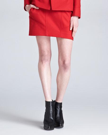 Wool-Blend Knit Skirt