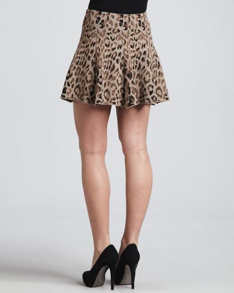 Leopard-Print Miniskirt