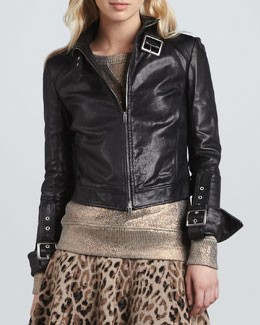 Skaist Taylor Leather Jacket with Buckles