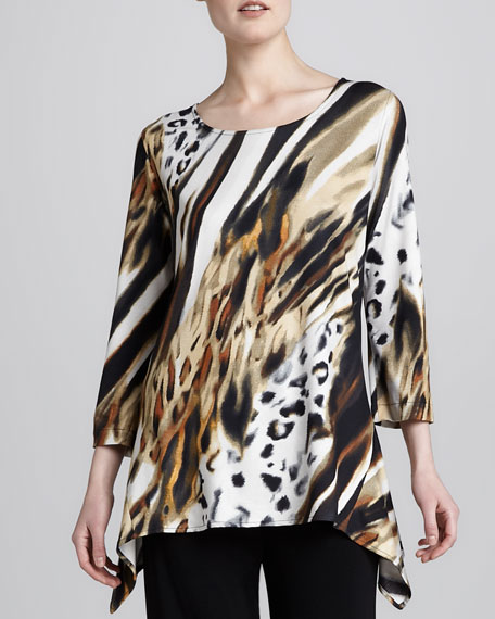 Bronze Animal-Print Tunic