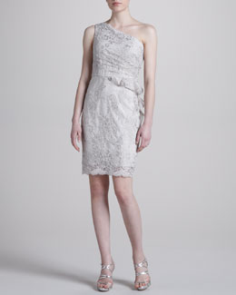Notte by Marchesa One-Shoulder Lace Cocktail Dress