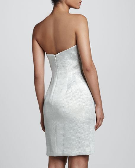 Strapless Brocade Cocktail Dress