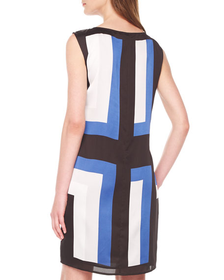 Layered Printed Sleeveless Dress