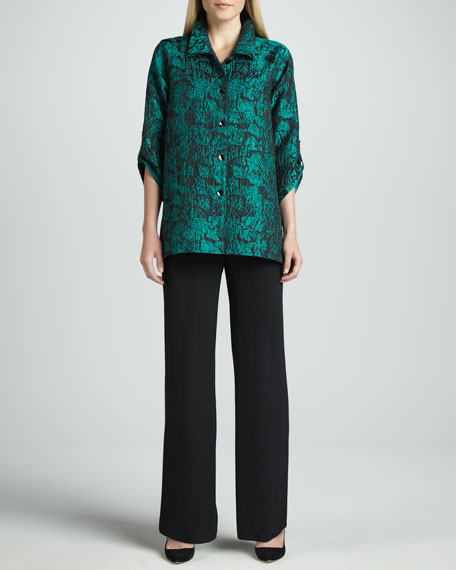 Caroline Rose Mystic Printed Shirt & Wide-Leg Silk