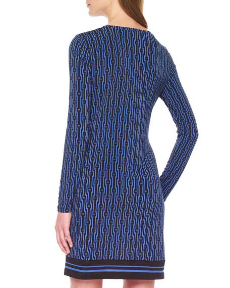 Printed Long-Sleeve Dress