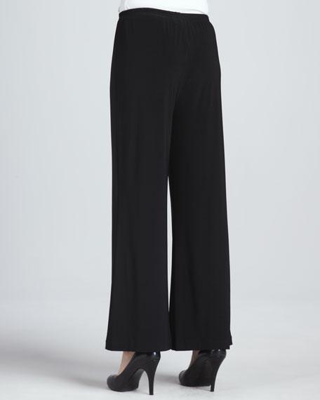 Wide-Leg Stretch Pants