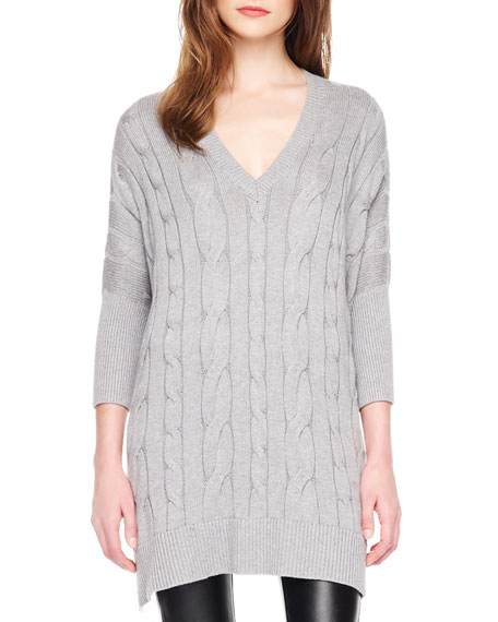 Loose Cable-Knit Sweater