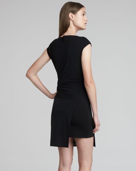 Slinky Layered Jersey Dress