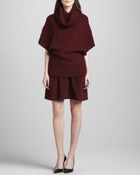 Antigone Pleated Felt Skirt