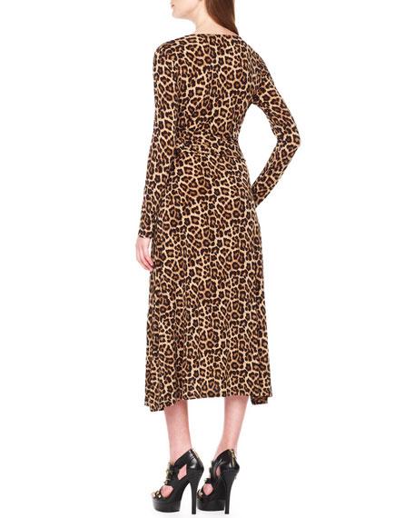 Leopard-Print Twist Dress