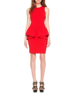 MICHAEL Michael Kors  Jersey Peplum Dress