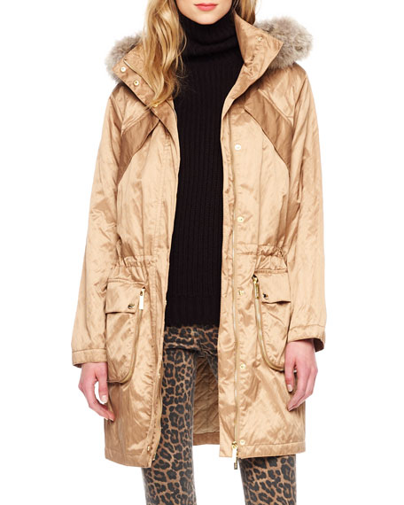 Coyote Fur-Collar Anorak