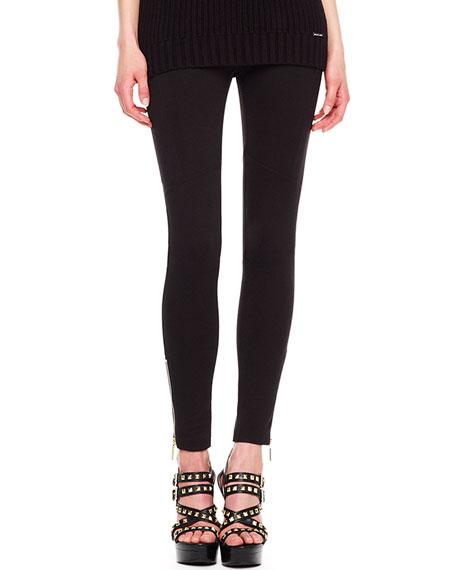 Ankle-Zip Skinny Pants