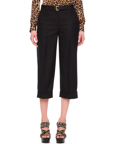 Cropped Cuffed Pants