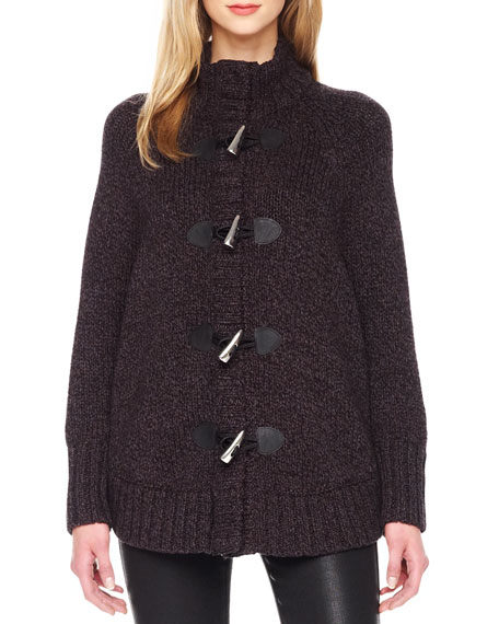 Toggle-Front Cape Cardigan