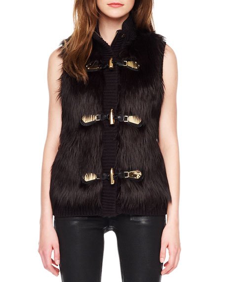 Faux-Fur Toggle Vest