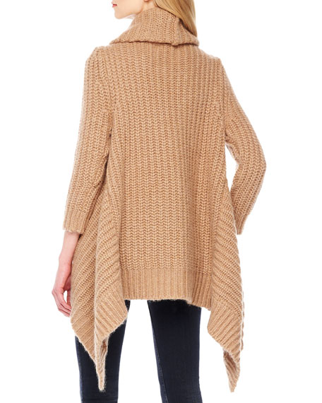 Uneven-Hem Oversize Sweater